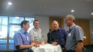 Gebhard Lipp, Klaus Kremm von Marquardt GmbH und Rainer Ziegler, Markus Streif von GRUNER AG - von li